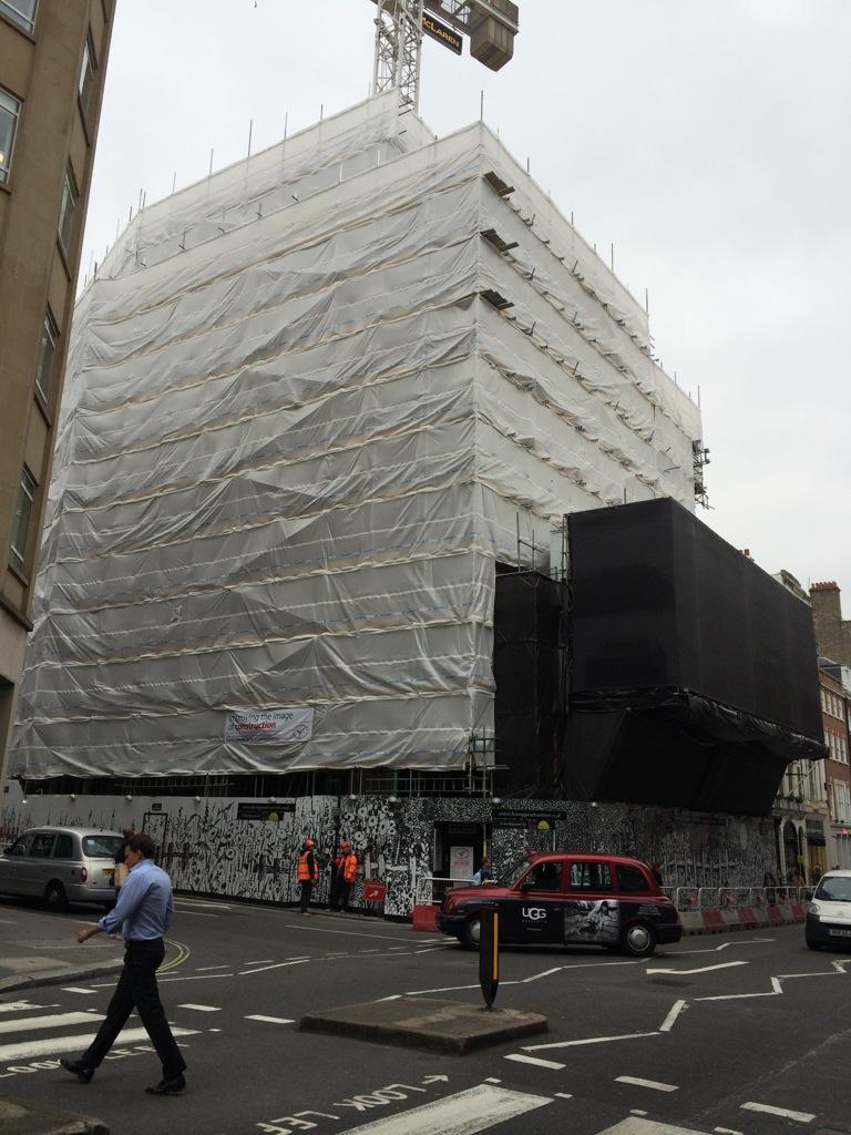 Savile Row building ready for Kate's tiles