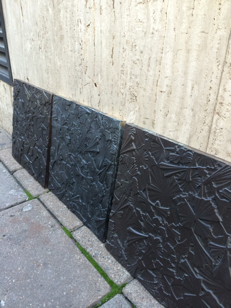 Bronze tiles for Savile Row