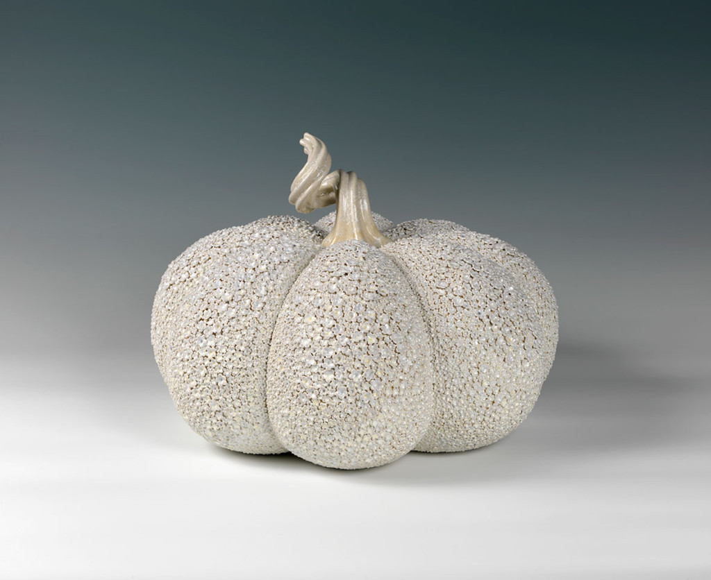 Daisy Mother Pumpkin, Decorative arts ceramics by Kate Malone