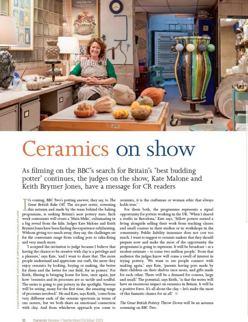 Ceramic Review Sep/Oct 15 - Ceramic on Show